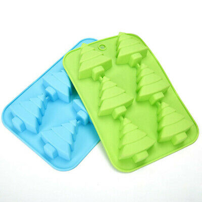 3D Christmas Tree Silicone Mold Chocolate Cake Soap Jelly Ice Tray Wax Mould UK • 4.88£