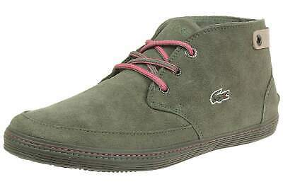 Lacoste Womens Khaki Green Pink Suede Clavel Trainers Shoes • 45£