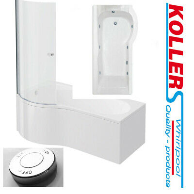 Cavalier P Shape Shower Bath 6 Or 8 Jet Whirlpool Spa Panel & Screen 1700/1500mm • 484£