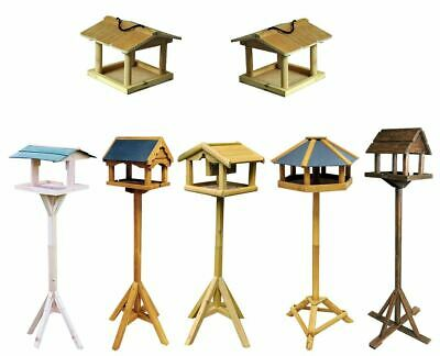 £25.95 • Buy Traditional Wooden Wild Bird Deluxe Feeding Station Table Free Standing New