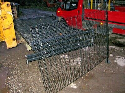 1 Metal Wire Mesh Fencing Panels With Metal Fence Posts 2 Mtrs X 1200 High  • 75£