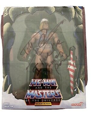 $250 • Buy Super 7 Masters Of The Universe Holiday He-Man Signed By Dolph Lundgren 90 Grade