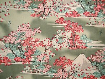 AU9.95 • Buy From Japan- Tradition 100% Cotton Fabric Fat Quarter Quilting - Mt Fuji Blossom
