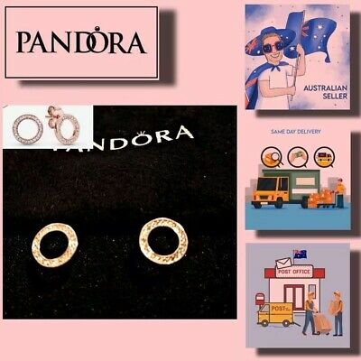 AU56.99 • Buy Christmas Gift Pandora Sparkling Circle Stud Earrings Item 280585CZ 【AU Stock】