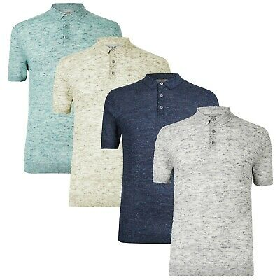 £12.50 • Buy M&S Textured Knitted Polo With Linen New Mens Marks & Spencer Short Sleeve Shirt