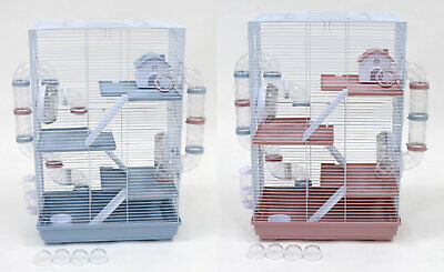 Hamster Cage, Little Zoo Harriet With Tubes, Pink Or Blue  • 42.99£