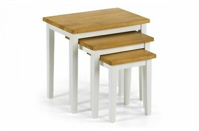 CLEO NEST OF TABLES - Natural Oak, White And Oak, White, Grey. • 60£