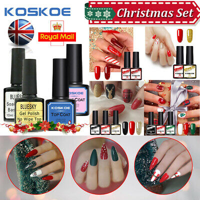 Christmas Collection Gel Nail Polish KOSKOE Manicure Varnish Kit 2/3Color Bundle • 4.99£