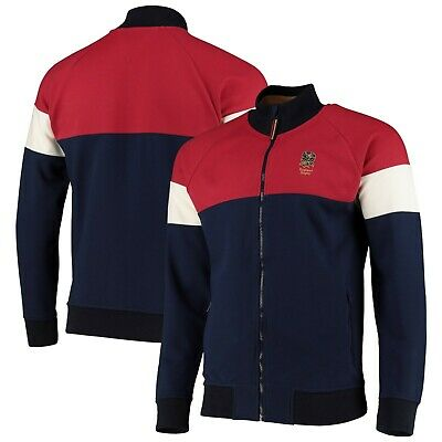 England Rugby Jacket Mens Iconic Panel Full Zip Track Jacket - Navy - New • 29.99£