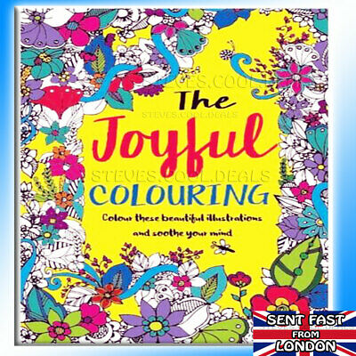 A4 Adult Colouring Books Colour Relaxing Therapy Patterns Anti-Stress Books 🎨 • 3.69£