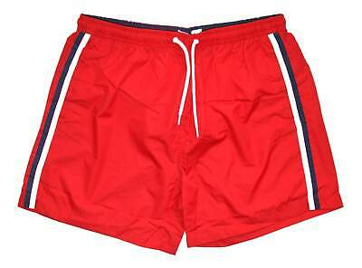 55 Soul Mens Red White Blue Stripes Mesh Lined MSRT Football Shorts • 12.09£