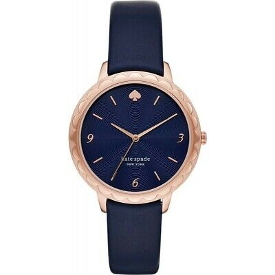 $ CDN100.78 • Buy Kate Spade Morningside Three-Hand Navy Leather Watch Gold-Tone 38mm KSW1577 NIB