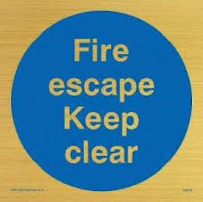 Fire Escape Keep Clear Sign • 3.99£