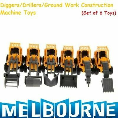 AU24.94 • Buy 6x CONSTRUCTION PARTY FAVOURS TOY VEHICLES TRUCKS TRACTOR DIGGERS Toy Present
