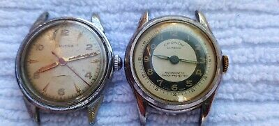 $ CDN30 • Buy Vintage Bulova And Cronow Watch Lot For Restoration Or Parts.