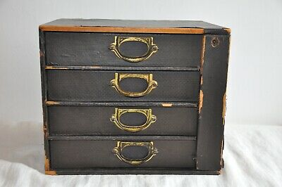 Antique Vintage Industrial desktop Chest Of Drawers Stationery/collectors • 80£