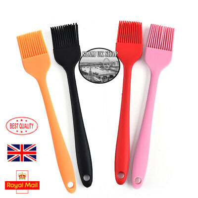 BBQ Baking Basting Brush Pastry Bread Grill Cooking Colourful Silicone Bakeware • 2.89£