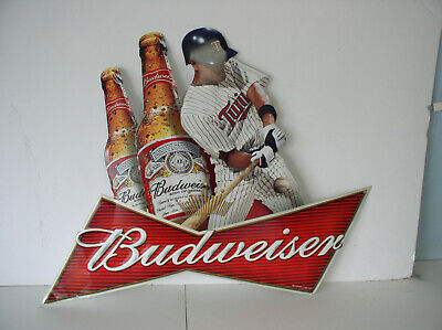 $ CDN60.14 • Buy 2011 Ef  BUDweiser Embossed Minnesota Twins Base Ball Metal Sign Used