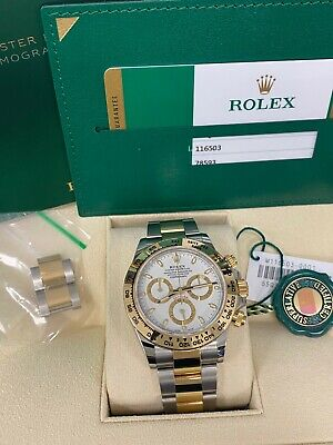 $ CDN24825.04 • Buy Rolex Daytona 116503 White Dial 18K Yellow Gold Stainless Steel Box Papers 2020