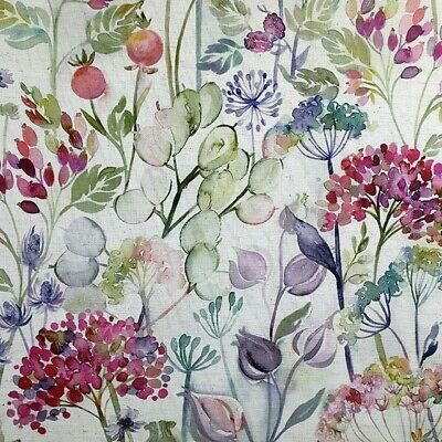 Voyage Maison  Country Hedgerow Lotus Linen  Fabric  Per Meter In Stock Curtains • 23.98£