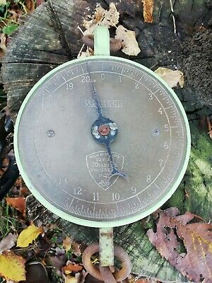 Vintage 20lb Salter Suspended Butchers Weighing Scales Model 235 Brass Face • 40£