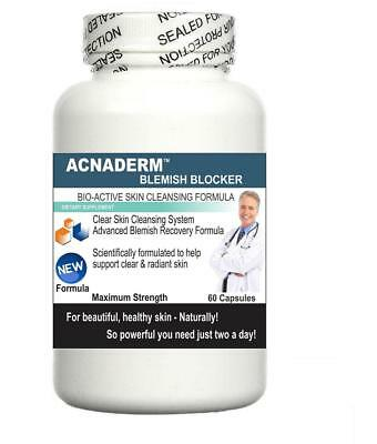 £39.95 • Buy 3x Acnaderm Acne Pills Clear Skin Blemishes Scars Blackheads Detox Spots Zits