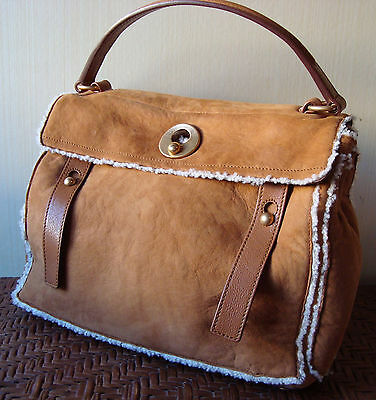 AUTH YSL MUSE TWO LIMITED EDITION In TAN SHEEPSKIN  BAG BORSA SAC  • 1,500£
