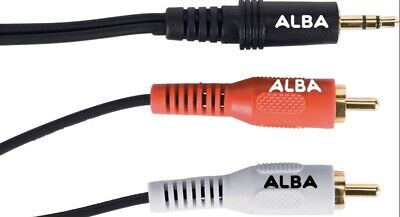 ALBA MINI JACK TO STEREO RCA CABLE. 1 Meter. New And Sealed. • 3.99£