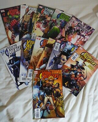 Young Avengers 1 2005 Complete Set Issues 1-12  1st App Kate Bishop VFN/ NM • 50£