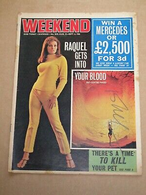 Weekend & Today Magazine August 31-September 6 1966 Raquel Welch Cover • 5£