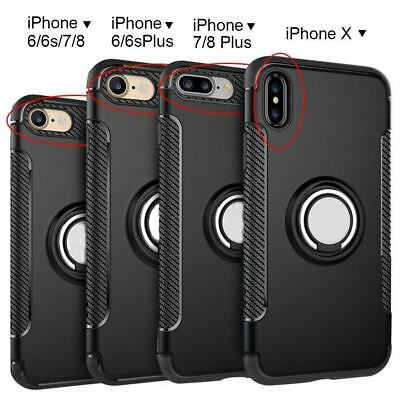 AU7.20 • Buy For IPhone 12 Pro Max 11 XS XR 8 Ring Finger With Magnetic Car Mount Case Cover