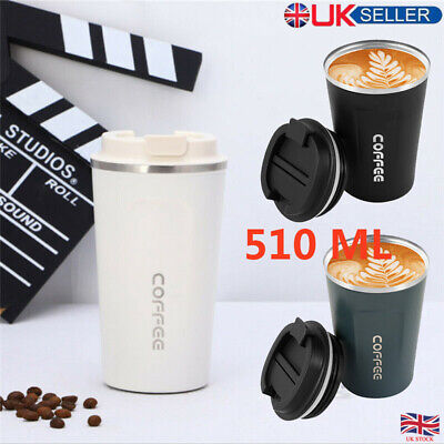 £9.25 • Buy Insulated Coffee Cup Mug Travel Thermal Stainless Steel Adult Vacuum Leakproof
