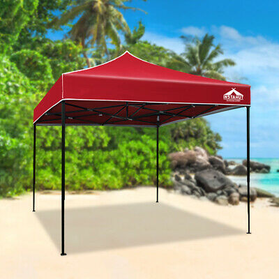 AU81.50 • Buy Instahut Gazebo Pop Up Marquee 3x3 Outdoor Tent Folding Wedding Gazebos Red