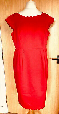 M&S Ladies Dress 18 Smart Occasion Christmas Party Lunch Scallop Hem Work  • 0.99£