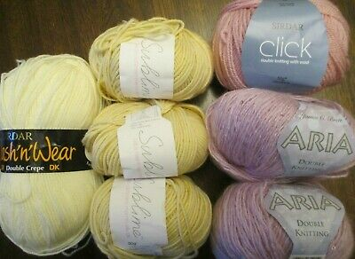 £14.97 • Buy Crafters Job Lot Of Clearance Wool 7 Balls New Old Stock