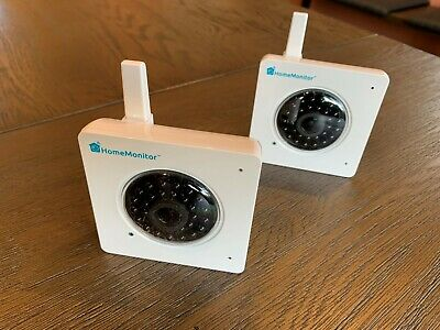 Two Hardly Used HomeMonitor Y Cams With Night Vision And Power Leads • 40£