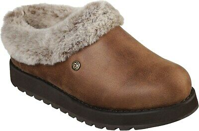 Skechers Keepsakes - R E M Womens Ladies Mule Slippers Brown UK Size • 48£