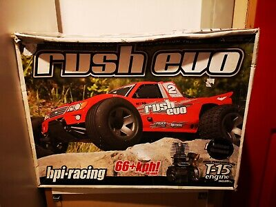 1/10 HPI Nitro Rush Evo With Box Spares Or Repairs Project Collectors • 150£