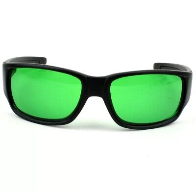 Indoor New Black LED Grow Room Glasses FREE Hard Carrying Case Pouch Green • 18.91£