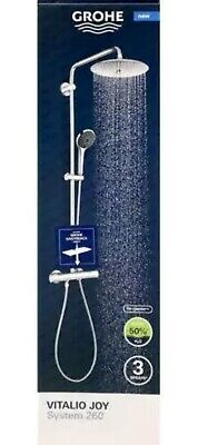 Grohe Vitalio Joy System 260 Shower With Thermostat & Easy Reach Tray • 278£
