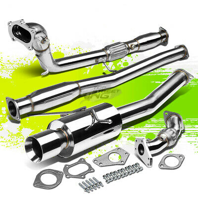 $220.88 • Buy 4 ROLL TIP PERFORMANCE TURBO CATBACK+UP+DOWN PIPE EXHAUST KIT FOR WRX/STi GD/GG