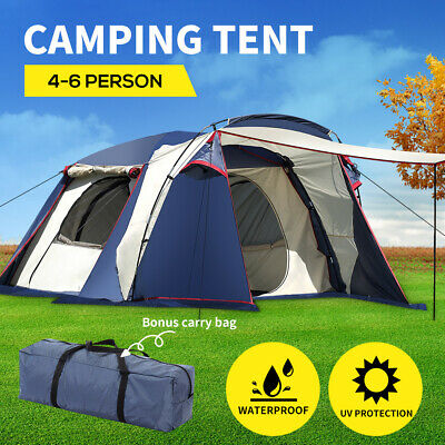 AU185.99 • Buy Large Family Camping Tent Tents Portable Outdoor Hiking Beach 4-6 Person Shelter