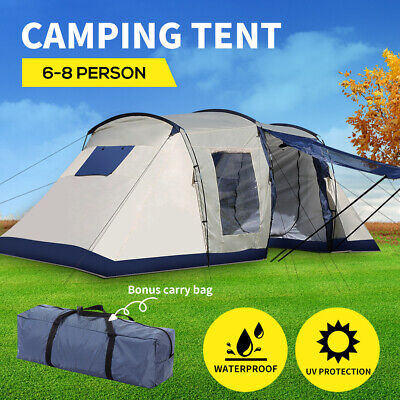 AU219.99 • Buy Large Family Camping Tent Tents Portable Outdoor Hiking Beach 6-8 Person Shelter