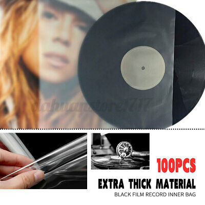 AU19.95 • Buy 100Pcs Sleeves Plastic Clear Record Outer Cover For 12'' LP LD Vinyl