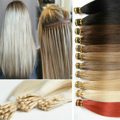 $25.73 • Buy 1g/sThick Double Drawn Remy Human Hair Keratin Stick I-Tip Hair Extensions50-100