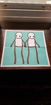 Stik Limited Edition Poster Hackney Today In Teal • 95£