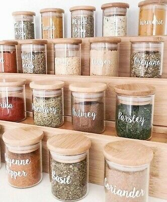 £1 • Buy Personalised Sticker Label For Jars/Tins/Canisters/Tubs/Storage/Boxes/Box/Pots