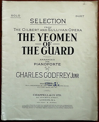 The Yeomen Of The Guard Selection By Gilbert & Sullivan For Pianoforte  • 8.99£