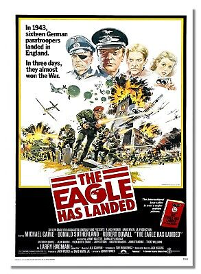 The Eagle Has Landed British War Film Advert Poster Kidnap Churchill Picture  • 8.99£