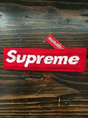 $ CDN51.90 • Buy Supreme FW18 New Era Big Logo Headband Red New W/ Tags